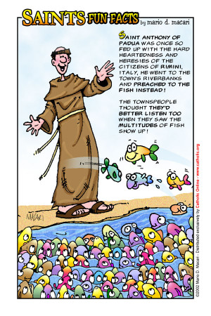 Saints Fun Facts for St. Anthony of Padua