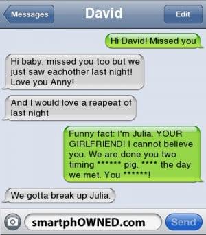 Stupid boyfriend.