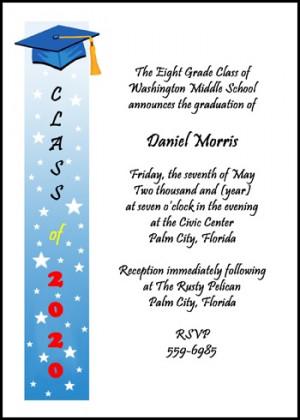 8th Grade Graduating Class Invitation Cards areBecoming Very Popular!