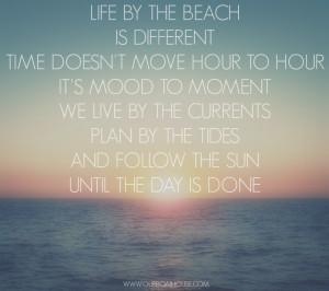 Beach Life Quotes Coastal ocean life quote