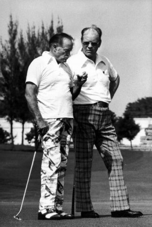 Bob Hope playing golf with President Gerald Ford at the Jakie Gleason ...