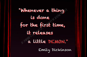 Emily Dickinson Goth Quote Art 5x7 Framed Inspirational Print Famous ...