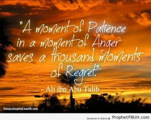 Moment of Patience - Imam Ali bin Abi Talib quotes ← Prev Next →
