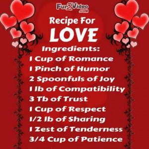 Love Recipe Funny Love Quotes