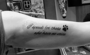 Animal rights new tattoo