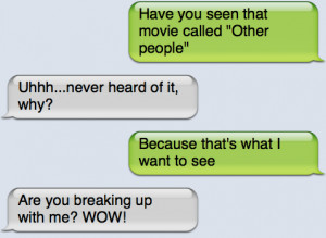 ... : Funny Pictures // Tags: Epic text - The break up // April, 2013