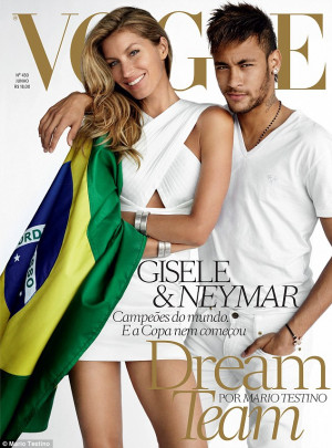 Feeling patriotic: Gisele Bundchen poses on the June issue of Vogue ...