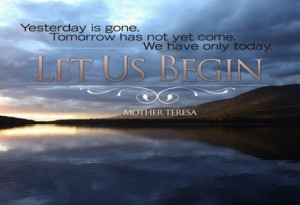 Yesterday is gone picture quote
