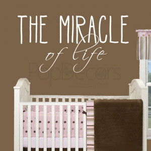 Removable Wall Decal - THE MIRACLE of Life - Vinyl Words and Letters ...