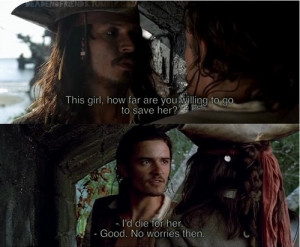 ... , movie quote, orlando bloom, pirates of the caribbean, will turner