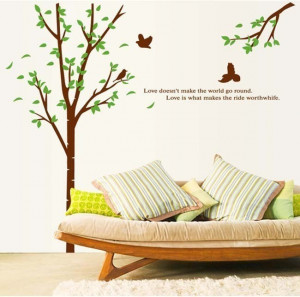 ... Decor-Removable-Mural-PVC-Decal-Sticker-Tree-Branches-With-Quotes-x095