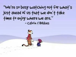 Correct..enjoy each day, each moment ♥