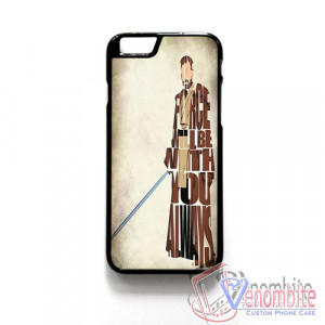 Star Wars Obi-Wan Kenobi Quotes iPhone 4/4s/5/5s/5c Case, iPhone 6/6 ...