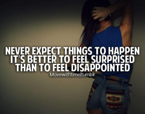Life Expectations and Surprises Quote