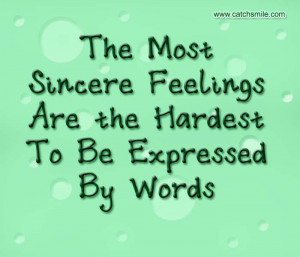 Love Quotes Sincere Feelings