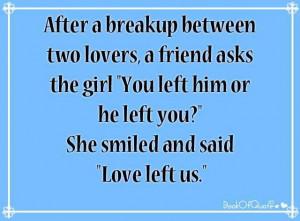 After A Breakup Between
