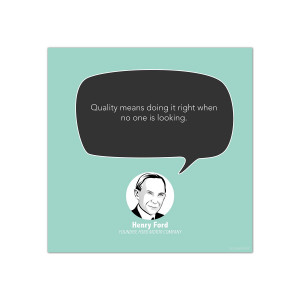 Quality, Henry Ford - Startup Quote Poster (CG344038)