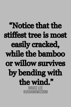 Bruce Lee #quote #inspiring #flexibility apply this to your life More