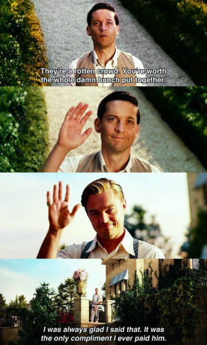 Gatsby Quotes, Leonardo Dicaprio, The Great Gatsby Movie, Movie Quotes ...