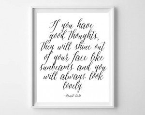 Roald Dahl Matilda Quote Art Print-Modern Printable by paper and ...