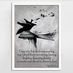 The Raven by Edgar Allan Poe Alternative Gothic Quote Print ...