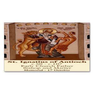 Let St. Ignatius of Antioch