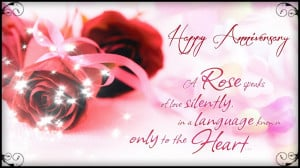 Rose Speaks Happy Anniversary Quotes