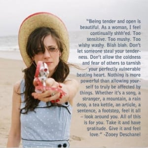Zooey Deschanel on tenderness