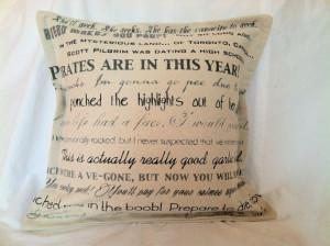 Scott Pilgrim vs. the World movie quote decorative pillow cover