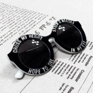 sunglasses cute black round sunglasses vintage white sexy quote on it ...