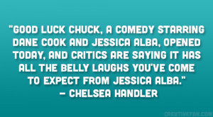 Good Luck Chuck, a comedy starring Dane Cook and Jessica Alba, opened ...