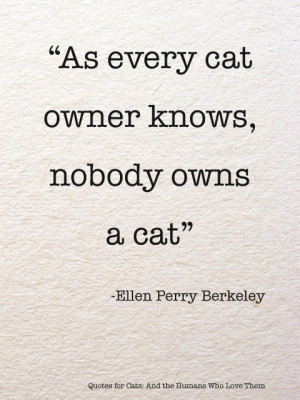 As every cat owner knows…via Quotes for Cats