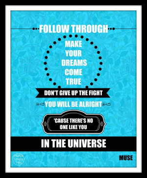MUSE Invincible lyric Art Quote 8X10 Typography by paperlovespen, $15 ...