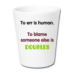 cute tennis-themed gift #funny quotes #doubles #tennis More