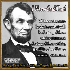 Abraham Lincoln Quote Quotes