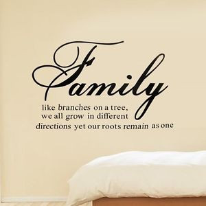 ... -Branches-Together-Love-Art-wall-Sticker-Decal-Quote-Home-Room-Decor
