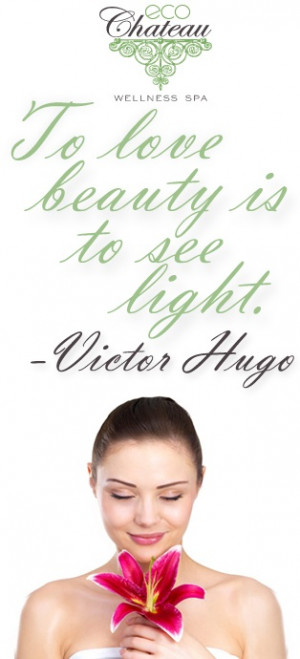 To love beauty is to see light. -Victor Hugo #quote