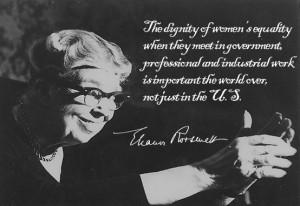 From a true advocate of #women, Eleanor Roosevelt. Happy International ...