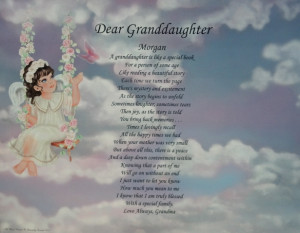 Details about DEAR GRANDDAUGHTER PERSONALIZED POEM BIRTHDAY OR ...
