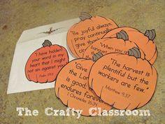 ... Bible Verse Pumpkins. Free Printables from BibleStoryPrintab... More