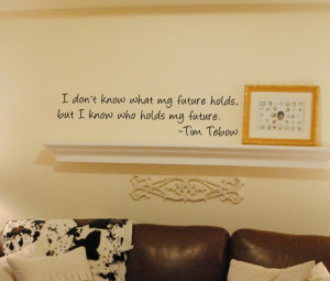 Tim Tebow Quote Wall Decal
