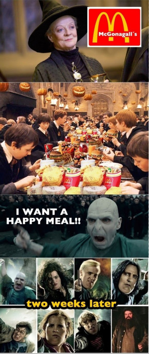 Harry Potter Fat Voldemort Wants Happy Meal