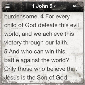victory through faith in Christ} | I John 5 | take from Wycliffe ...