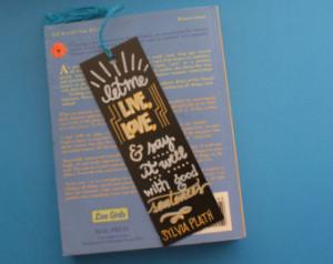 Handmade Chalkboard Handlettered Sy lvia Plath Quote Bookmark ...
