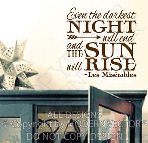 ... -Movie-Quote-Collage-Quote-Vinyl-Wall-Decal-Book-Quote-Sun-Night