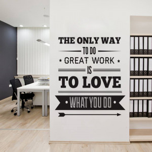 Office Decor Typography Inspirational Quote Wall Decoration Art Vinyl