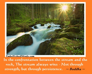 quotes streams Inspirational Quotes: Not Through Strength ...