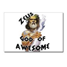 Zeus God of Awesome Postcards Package of 8 for
