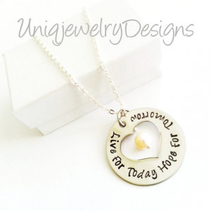 ... Jewelry, Inspirational Quote Necklace, Personalized Jewelry