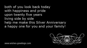 short silver wedding anniversary quotes